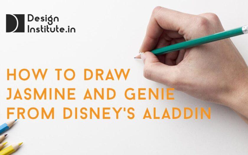 How to Draw Jasmine And Genie from Disney's Aladdin